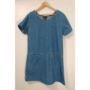 Vintage Blue J. Large Denim Painters Dress Tunic